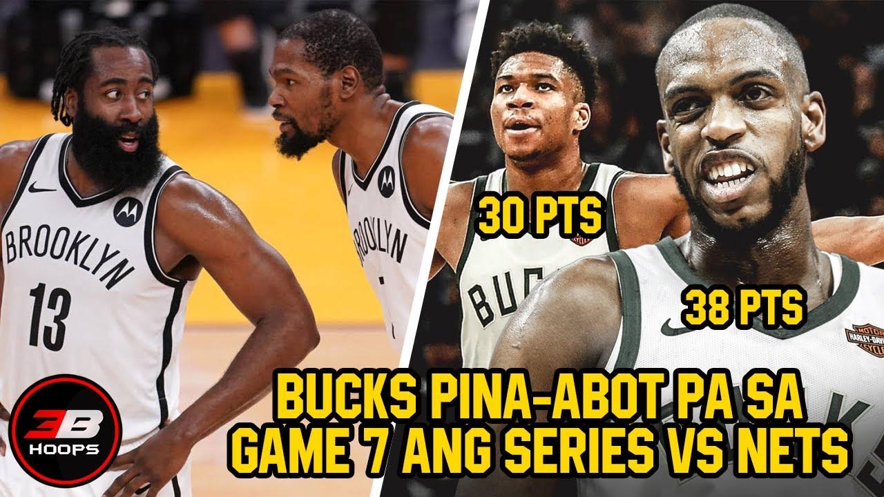 BUCKS PINA-ABOT NG GAME 7 ANG SERIES VS BROOKLYN NETS | KHRIS MIDDLETON 38 POINTS