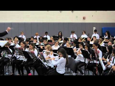 Westborough Mill Pond school 5th grade band concert on 17 November 2015