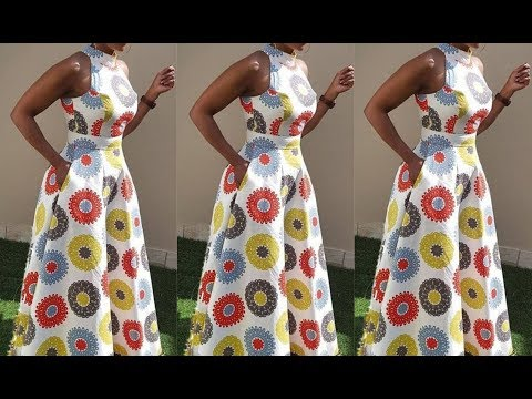 How To Cut Sew A Sleeveless Circle Gown With Turtle Neck (The Needle Woman)