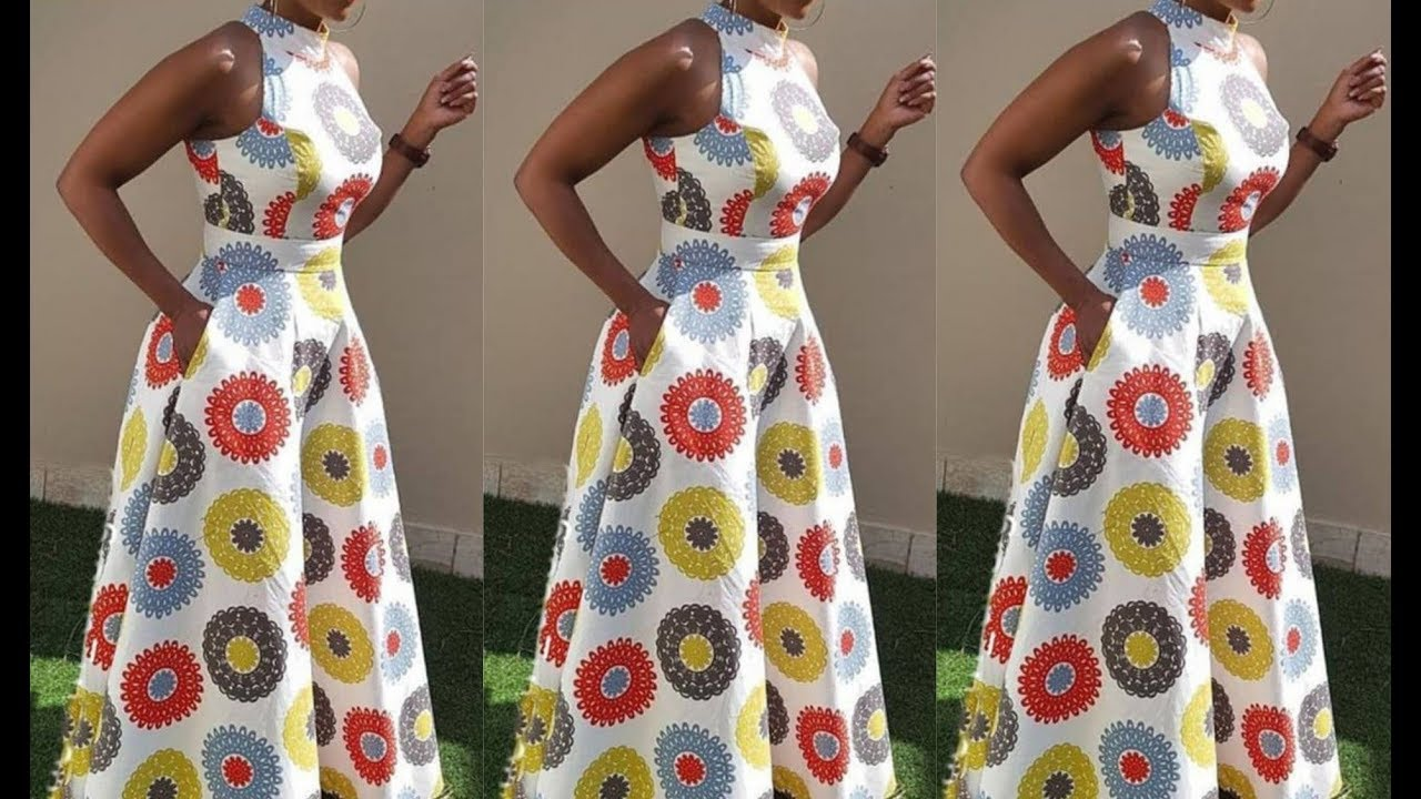 Download How to cut sew a sleeveless circle gown with turtle neck (The needle woman)