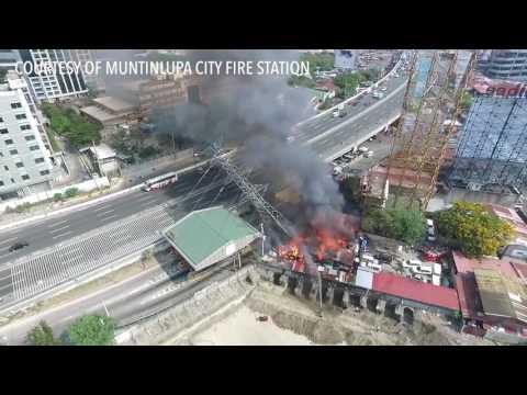 Muntinlupa fire triggers SLEX traffic jam
