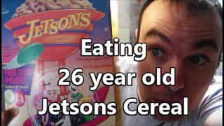 Eating 26 year old Jetsons Cereal