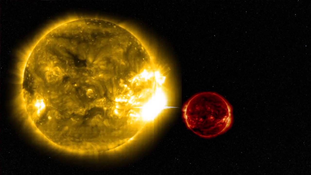 X100,000 Flare Unleashed By Nearby Red Dwarf | Video - YouTube