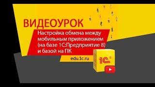 Видеоурок: настройка обмена между мобильным приложением (на базе 1С:Предприятие 8) и базой на ПК