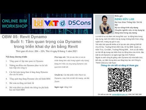 Online BIM Workshop 05: Revit Dynamo - Buổi 1: Tầm quan trọng của Dynamo triển khai dự án bằng Revit