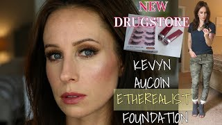 KEVYN AUCOIN ETHEREALIST FOUNDATION + NEW DRUGSTORE FINDS | GRWM & OOTD