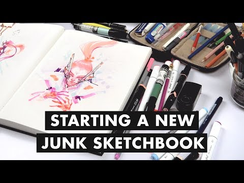 Starting a New Sketchbook + 5 Motivational Reasons to Sketch!