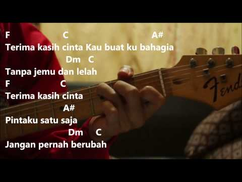 Tasha Manshahar ft  RJ - Terima Kasih Cinta Cover (Kord Gitar)