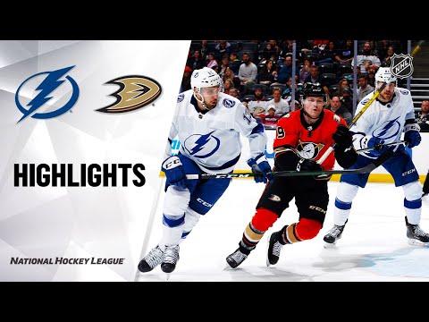NHL Highlights   Lightning @ Ducks 1/31/20