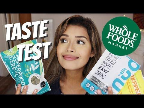 WHOLE FOODS VEGAN TASTE TEST | ItsMandarin
