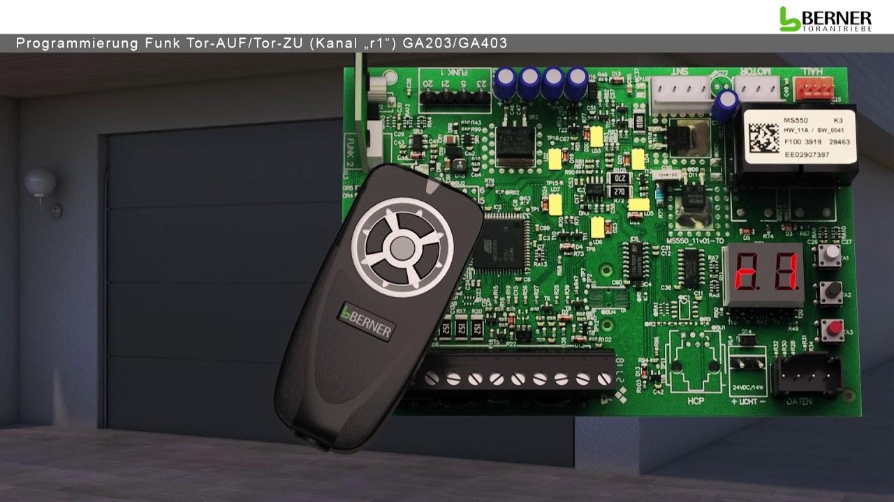 Handsender f/ür Berner Torantriebe mit 868 MHz Festcode ersetzt BHS 140 BHS 121 Funk Fernbedienung f/ür Garagentorantrieb GA 201 301 401 110 BHS Funksender Garagentor