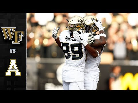 Wake Forest vs. Appalachian State Football Highlights (2017)