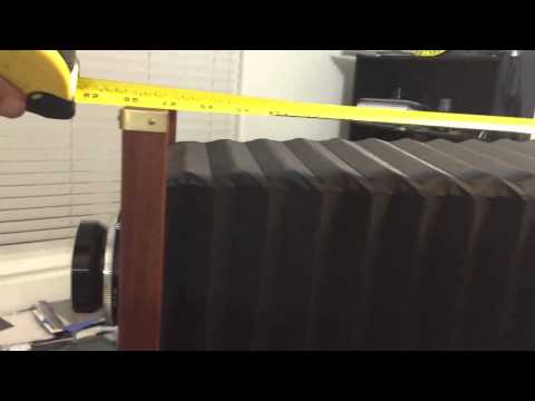 Measuring the Bellows of My Kodak 2d 8x10 Camera