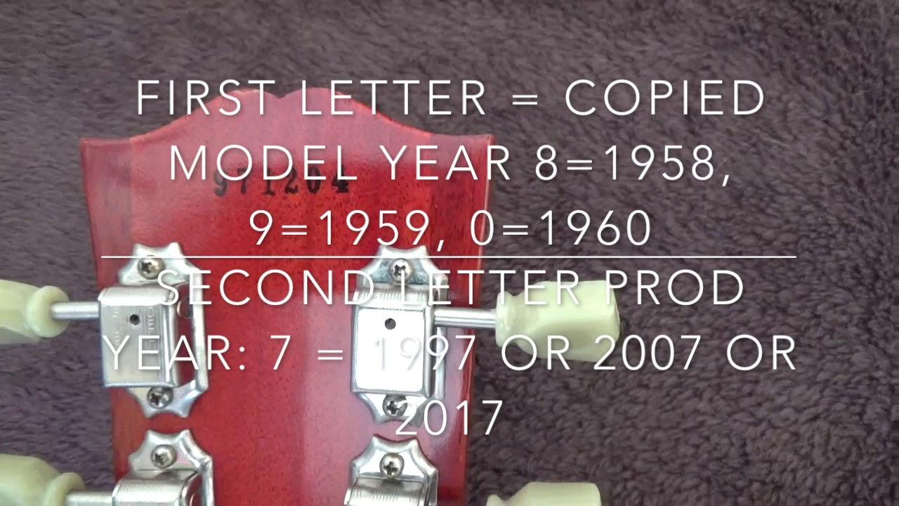 Guitar lookup by serial number