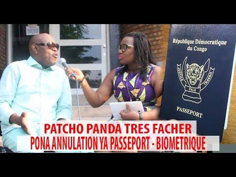 SCANDALE PATSHO PANDA CRACHE TERRIBLES PONA ANNULATION YA PASSEPORT - BIOMETRIQUE