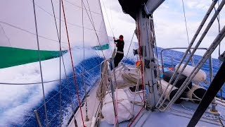 Tiny GIRL vs BIG Ocean EP 62 Sailing Millennial Falcon