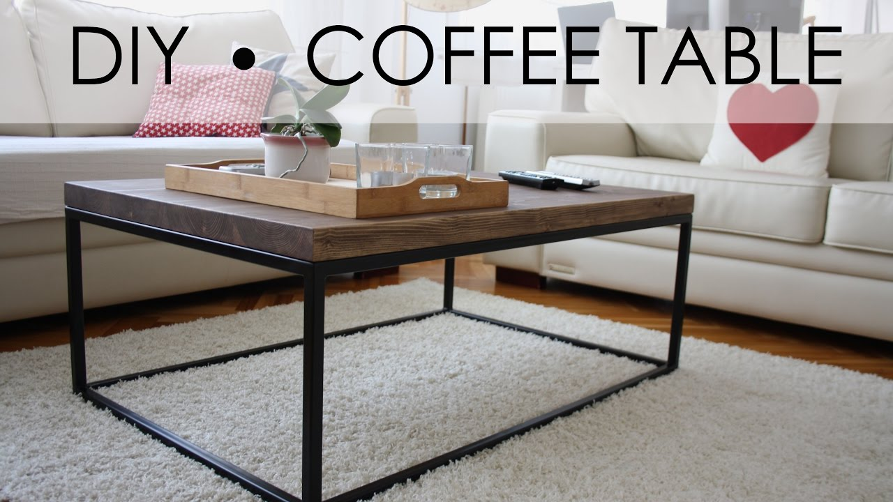 Diy coffee table easy simple youtube diy coffee table easy simple geotapseo Choice Image