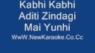 Kabhi Kabhi Aditi Zindagi  karaoke