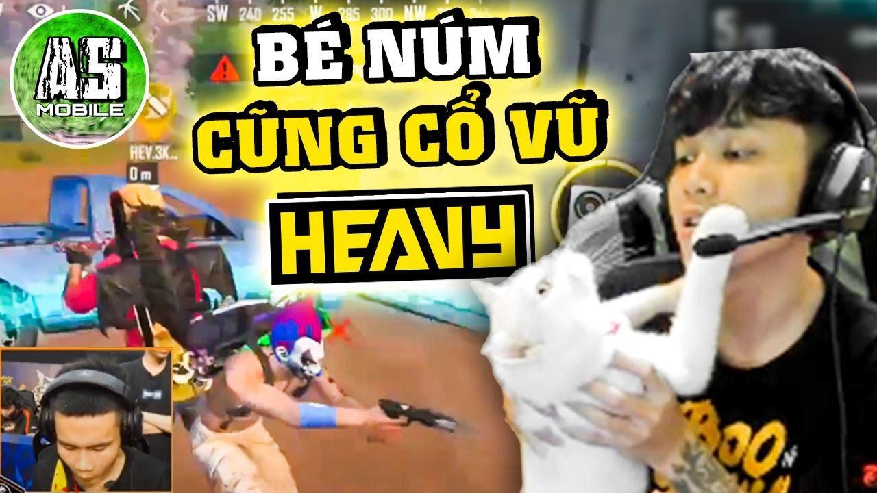 [Free Fire] Bé NÚM Cùng AS Cổ Vũ Cho HEAVY !!!   AS Mobile