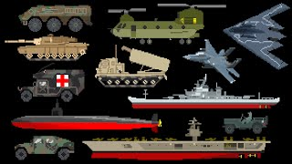 Military Vehicles - Army, Navy & Air Force - The Kids' Picture Show (Fun & Educational)