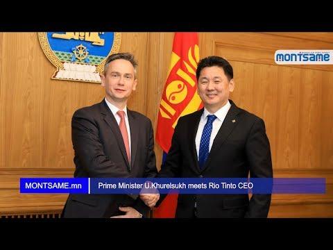 Prime Minister U Khurelsukh meets Rio Tinto CEO