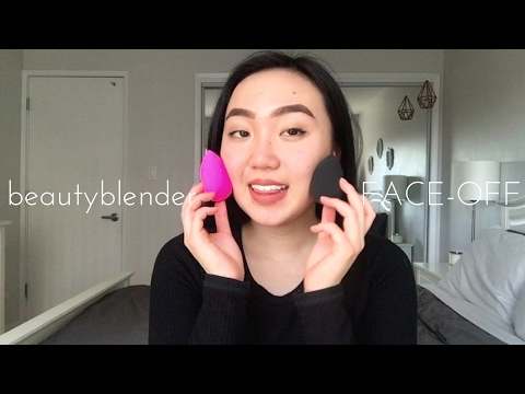 Pink beautyblender vs. Black beautyblender | Sher Chu
