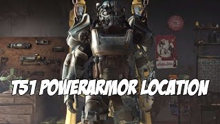 Fallout 4 - T-45/T51/T60/X-01 Powerarmor Location (+Legendary Sentry Bot)