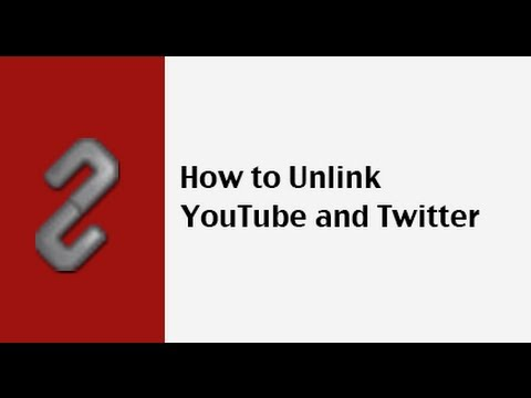 How to unlink YouTube and Twitter - YouTube