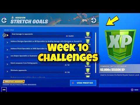 "*NEW* Fortnite Week 10 ""STRETCH GOALS"" MISSION CHALLENGES! Fortnite BR (STRETCH GOALS CHALLENGES)"