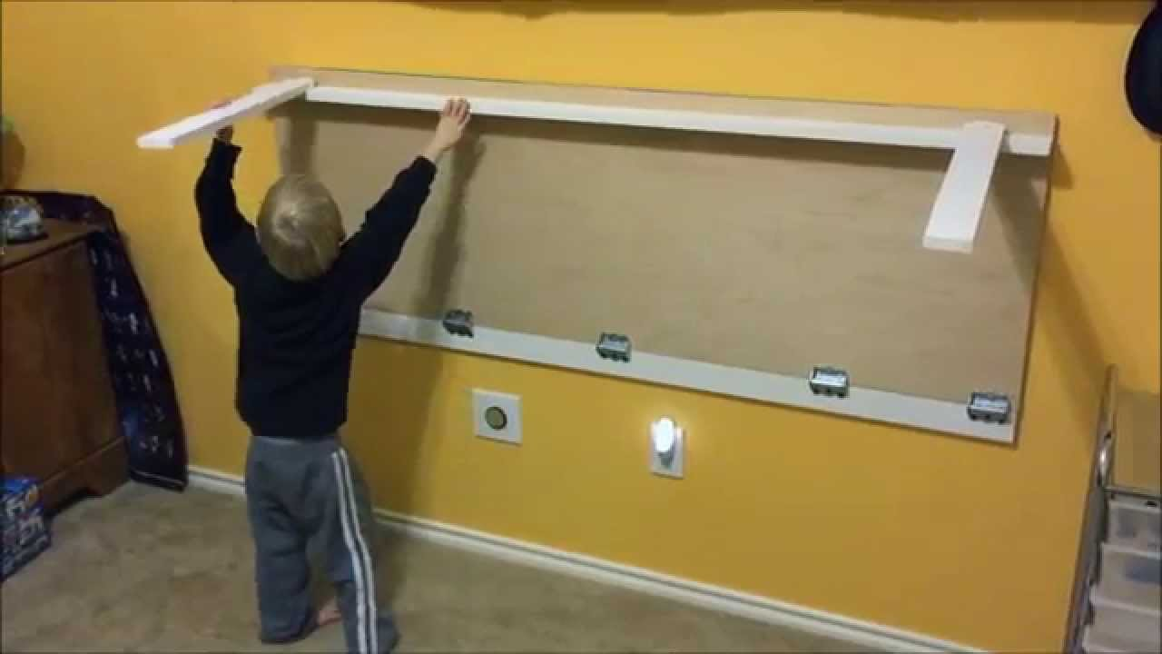 Lego Table (folds against the wall) - YouTube