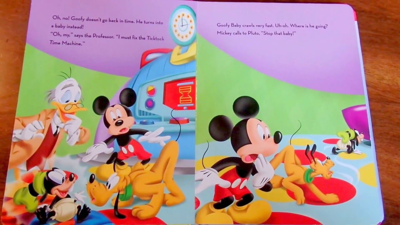 Mickey Mouse Clubhouse Storybook 📚 Goofy Baby   YouTube