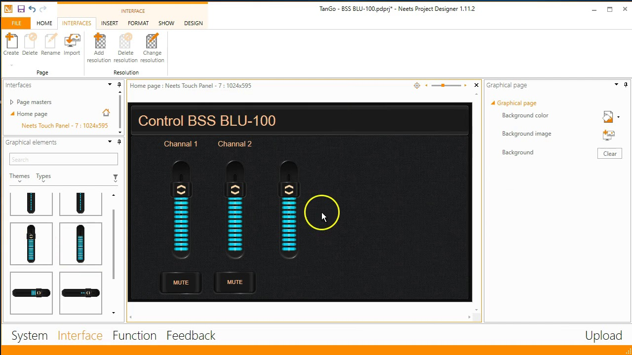 How to use BSS BLU 100 in Project Designer V2