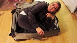 GIRL STUCK IN SUITCASE