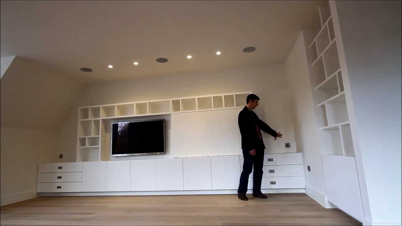 Bespoke Built In Media Tv Unit Uk Youtube