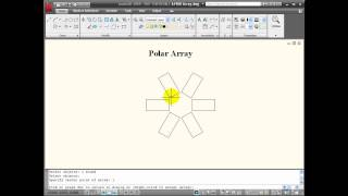 AutoCAD Tutorial - Using the ARRAY Command