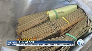 Woman finds large sum of money and returns it