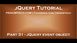 jQuery Event Object
