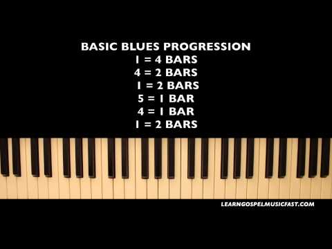 Piano Lesson 28 - 1-4-5 Blues Progression & Chord Progression Tutorial