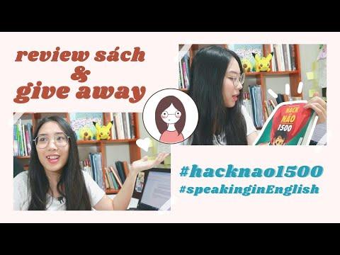 give away & review sách hack não 1500 | luyện tập nói tiếng Anh