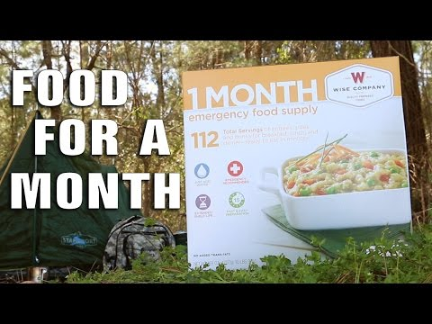1 Month Emergency Food Supply For 1 Person - $89.99