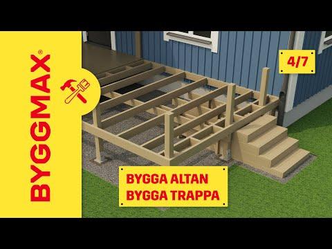 Byggmax tipsar, bygga altan (Del 4 - bygga trappa) - YouTube
