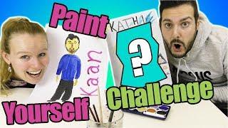 PAINT YOURSELF CHALLENGE - Kathi & Kaan malen sich gegenseitig mit Wassermalfarbe! Wer ist besser?