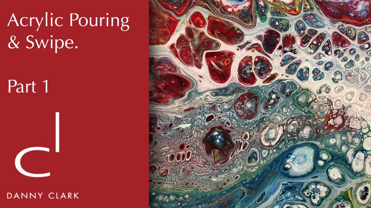 How To Make An Acrylic Pouring Painting With Cells Part
