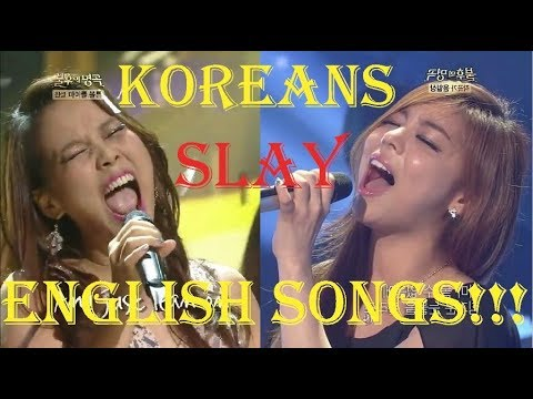 KOREAN Singers Slay ENGLISH Songs!!!