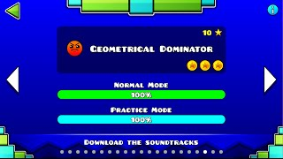 Geometry Dash 2.0 - Geometrical Dominator 100% [ALL COINS] 1080P 60FPS  - Bycraftxx