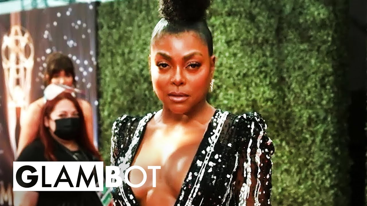 Taraji P. Henson GLAMBOT: Behind the Scenes at 2021 Emmys   E! Red Carpet & Award Shows