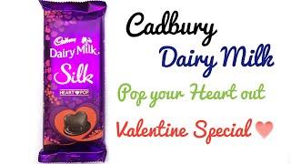 Cadbury Dairy Milk Silk Heart Pop - Valentine Special