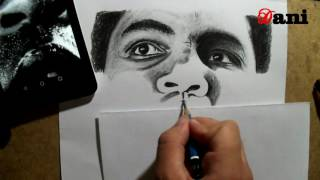 Pencil Drawing : Mohamed Ali