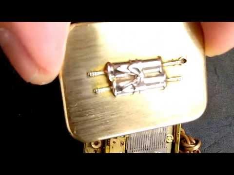Swiss mini music box key chain