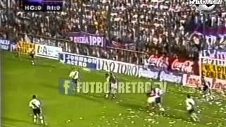 Huracan Ctes 2 vs River Plate 1 APERTURA 1996 Lujambio, Escudero